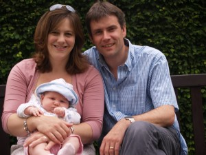 Paul Hardingham, his wife and youngest daughter