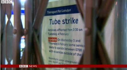 "London Tube Strike Causing ""Chaos"""