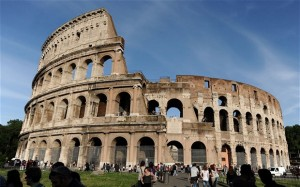 The Colosseum in Rome - seating capacity 75,000.